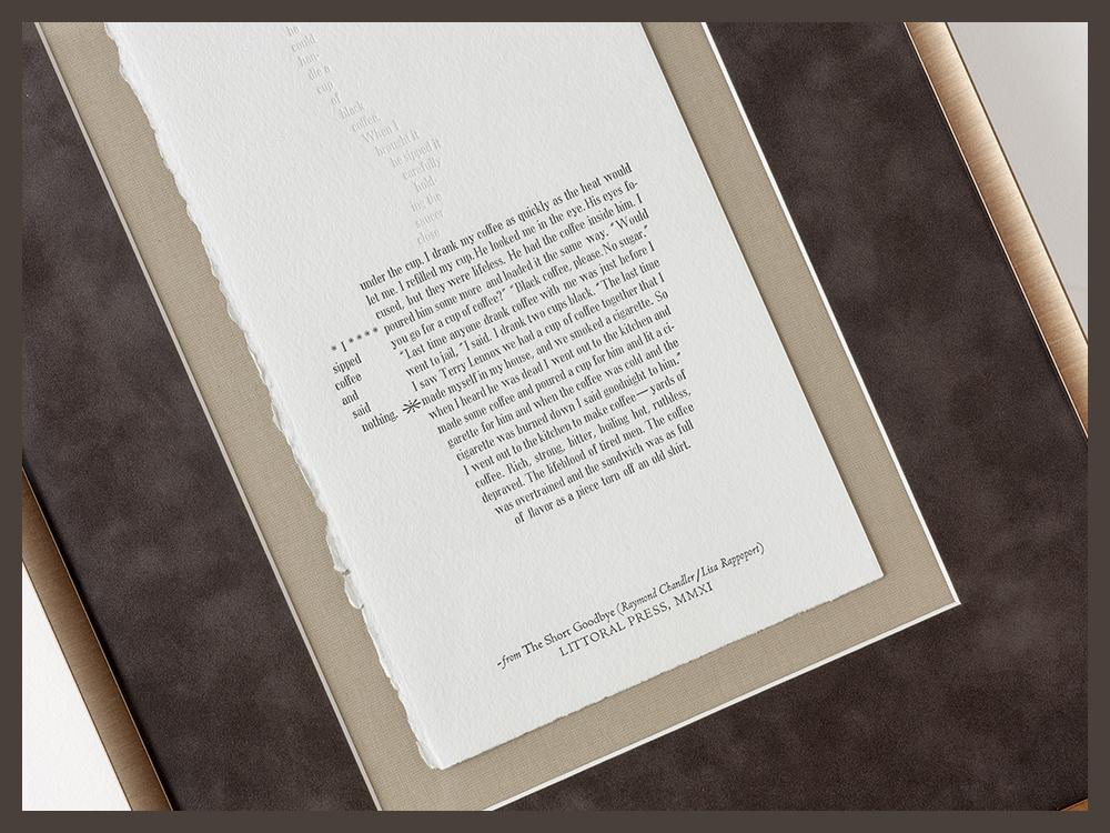 Custom framing for original letterpress artwork - Panorama Framing, Inc.