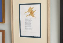 Picture Framing some more letterpress goodness! The silk mats' colors & texture work with both poem and print itself...