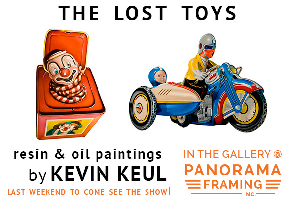 The Lost Toys by Kevin Keul in the Gallery at Panorama Framing!