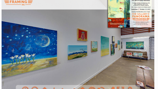 Dreamscapes by Suzie Skugstad, in the Gallery @ Panorama Framing