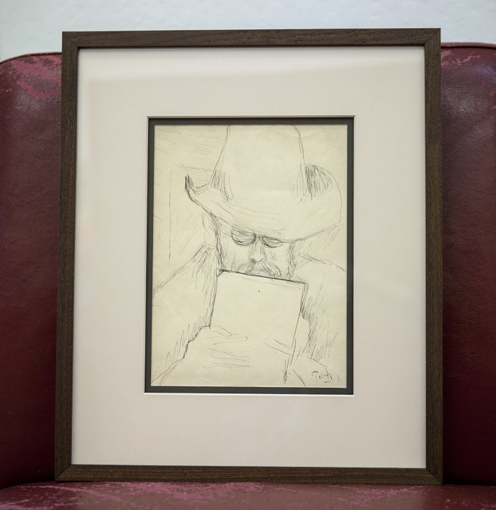 Sketch of Monet by Mark Tobey
