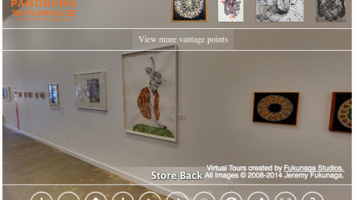 360 view of the Gallery at Panorama Framing